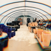 Our dream is becoming a reality 💫 Lemonfield's Living Showroom 🌱🌷 We have moved our showroom into a purpose built outdoor poly tunnel. The idea being that we can grow and maintain plants/flowers as well as showing off our brand new 2021 stock .  #polytunnel #stock #showroom #newseason #2021 #spring2021 #lemonfield #pottery #ceramics #pots #containerplanting #trade #wholesale #wholesalepottery #ireland #spring #summer #gardening #planting #gardeninspo #gardendesign #integration #flowers #potting #plants #livingshowroom